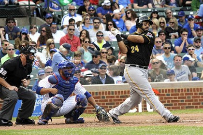 Pedro Alvarez The Pirates' Pedro Alvarez hits a two-run home run in the fourth inning.