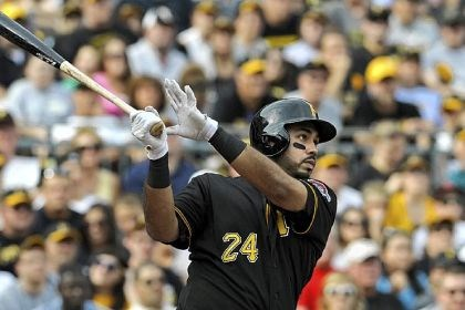 Pedro Alvarez The Pirates' Pedro Alvarez hits a three-run home run against the Diamondbacks in the third inning Saturday at PNC Park.