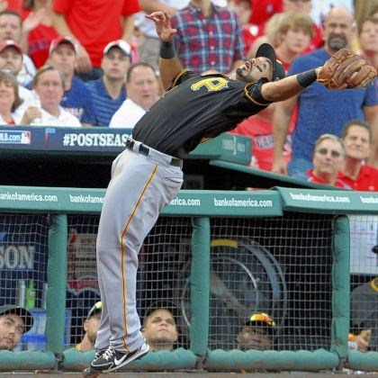 Pedro Alvarez Pedro Alvarez pulls in a foul ball hit by Carlos Beltran Thursday at Busch Stadium in St. Louis.