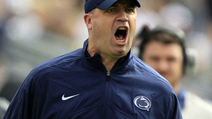 Penn State head coach Bill O'Brien Penn State head coach Bill O'Brien yells from the sidelines during the first quarter of today's game against Northwestern in State College.