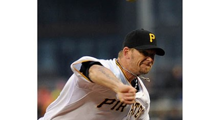 Pirates pitcher A.J. Burnett The offseason acquisition of pitcher A.J. Burnett from the New York Yankees has been a boon for Burnett, the starting rotation and the front office.