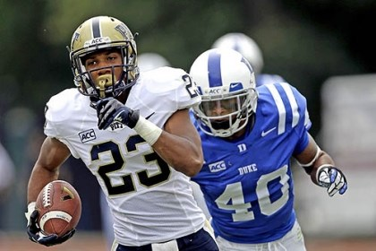 Pitt's Tyler Boyd runs for TD against Duke Pitt's Tyler Boyd runs for a touchdown following a pass reception as Duke's Dwayne Norman pursues during the first half of this afternoon's game in Durham, N.C.