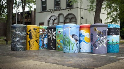 Rain barrels Rain barrels painted by local artists have been installed around the city as part of StormWorks Rain Barrels on Parade project.
