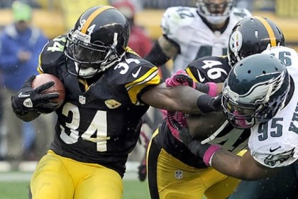 Rashard Mendenhall Rashard Mendenhall only showed glimpses of 2009-11.