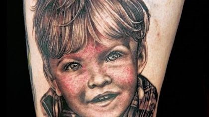 "Reality check Pittsburgh's Sarah Miller won the portrait challenge with this tattoo on Spike TV's ""Ink Master"" this week."