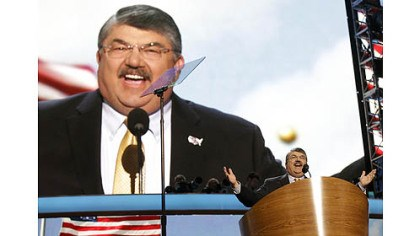Richard Trumka Richard Trumka, President of the AFL-CIO, addresses the Democratic National Convention on Wednesday in Charlotte, N.C.