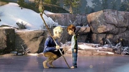 'Rise of the Guardians' Jack Frost, voiced by Chris Pine, convinces Jamie, voiced by Dakota Goyo, to believe in the Guardians.
