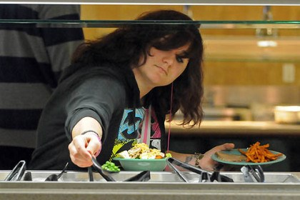 Salad bar Students can create their own salads at Shippensburg University's Reisner Dining Hall.