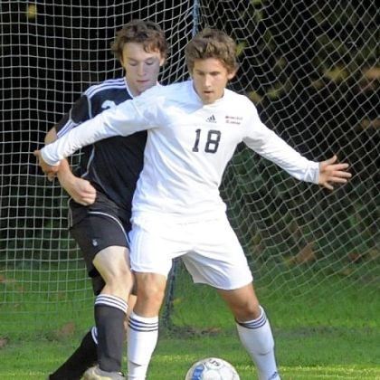 Sewickley Soccer Sewickley Academy's J.P. Bowell, sealing off South Side Beaver's Adam Luff during a regular-season game, led the Panthers with 26 goals this season.