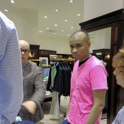 Sidney Barlow Sidney Barlow, 18, of Springdale enjoys a shopping spree at Brooks Brothers, Downtown, thanks to the Make-A-Wish Foundation of Greater Pennsylvania & Southern West Virginia. Sidney was diagnosed a year ago with acute myeloid leukemia.