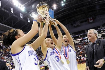 South Park South Park's Breanna Raymond, left, Shelby Lindsay and Halie Torris hoist PIAA championship trophy after defeating Bethlehem Catholic Saturday in Hershey.