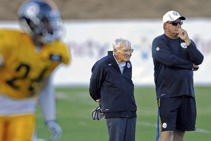 Steelers chairman Dan Rooney Steelers chairman Dan Rooney stands with general manager Kevin Colbert during the 2013 training camp in Latrobe.