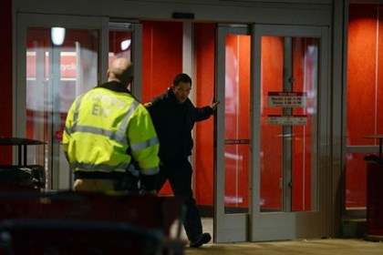 Target Police investigate the scene of a multiple-person stabbing Monday inside of the East Liberty Target.
