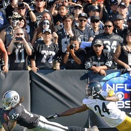 taylor Steelers cornerback Ike Taylor and Raiders receiver Denarius Moore.
