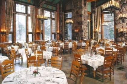 The dining room The dining room of The Ahwahnee in Yosemite National Park.