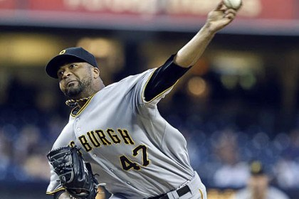 The victor Francisco Liriano pitched seven scoreless innings and earned his 14th victory in 19 decisions with the victory last night in San Diego.