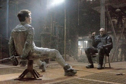 "Tom Cruise and Morgan Freeman Tom Cruise, left, and Morgan Freeman in ""Oblivion."""