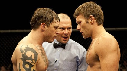 "Tom Hardy, left with Joel Edgerton Tom Hardy, left with Joel Edgerton, had a starring role in ""Warrior,"" which was also filmed in Pittsburgh in 2009."