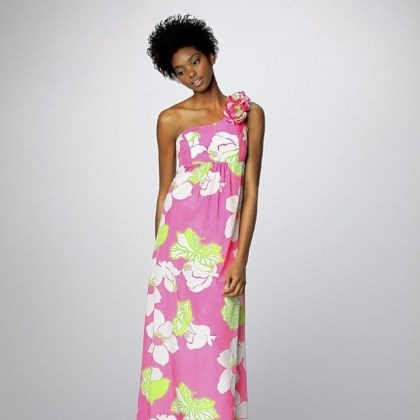 Tropical print dress A tropical print dress by Lily Pulitzer.