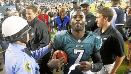 vick Stopping Eagles quarterback Michael Vick is easier said than done, even though he has thrown only four touchdown passes while tossing six interceptions.