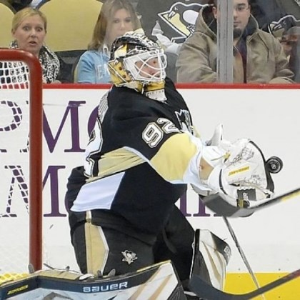 Vokoun The Penguins had to call on backup goalie Tomas Vokoun after Marc-Andre Fleury struggled mightily in Tuesday's 4-1 loss to the Islanders.