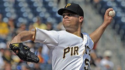 Wandy Rodriguez The Pirates' Wandy Rodriguez pitches against the Diamondbacks at PNC Park Thursday afternoon.