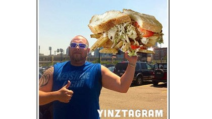 Yinztagram A Primanti Bros. sandwich posted on Twitter.