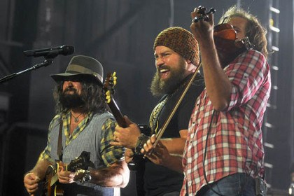 Zac Brown Band Clay Cook, Zac Brown and Jimmy De Martini of the Band.