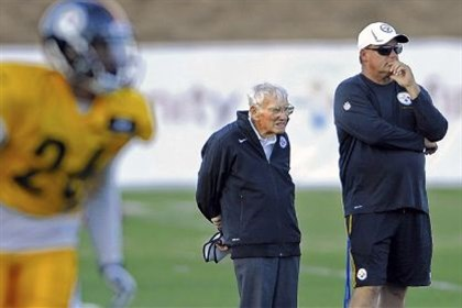 Kevin Colbert and Dan Rooney Steelers general manager Kevin Colbert stands with chairman Dan Rooney during the 2013 training camp in Latrobe.
