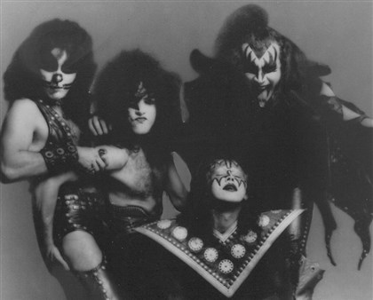 "Sharp2-9 KISS in 1975. ""What they need is a gimmick,"" Alice Cooper quipped."