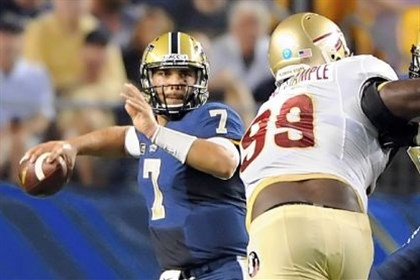 Tom Savage Pitt quarterback Tom Savage looks to pass against Florida State.