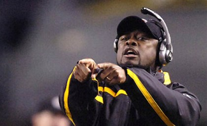 Mike Tomlin Head coach Mike Tomlin at the Steelers game against the Dolphins