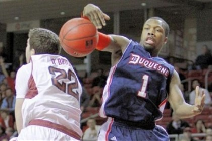Colter0215 Duquesne coach Jim Ferry wants and needs more from Derrick Colter and his other point guards.