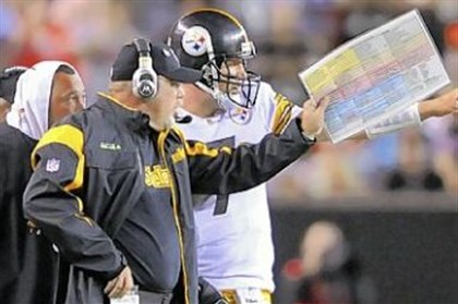Ben Roethlisberger Ben Roethlisberger talks with then offensive coordinator Bruce Arians, middle, and Charlie Batch during Arians' tenure in Pittsburgh as offensive coordinator.