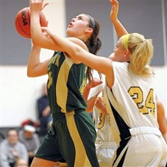Courtney Vannoy Blackhawk's Courtney Vannoy (with ball) is one of five starters averaging doubled digits in scoring.