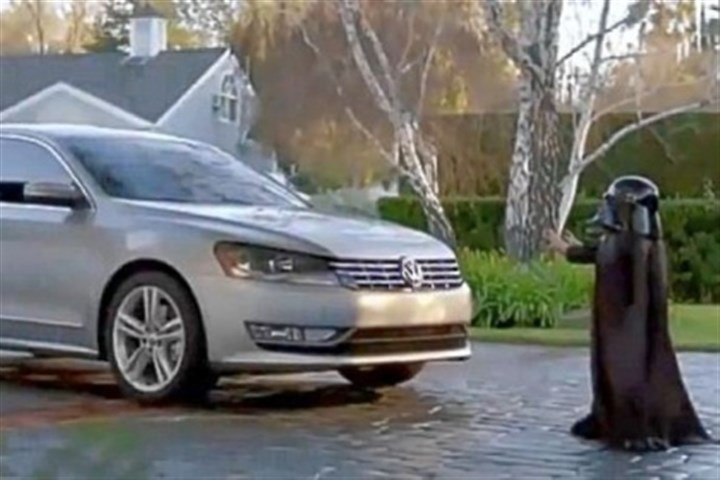 2012 Volkswagen Passat The One Club, a marketing industry nonprofit, has picked the top 10 automobile commercials of the past 25 years: Third place went to a spot for the 2012 Volkswagen Passat that featured a child dressed as Darth Vader being startled when his hidden parents turn the car on remotely.