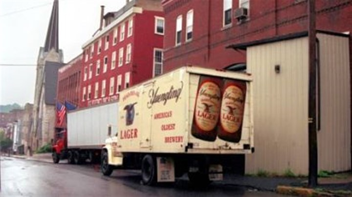 A Yuengling delivery truck A Yuengling delivery truck outside the brewery in Pottsville, Pa.