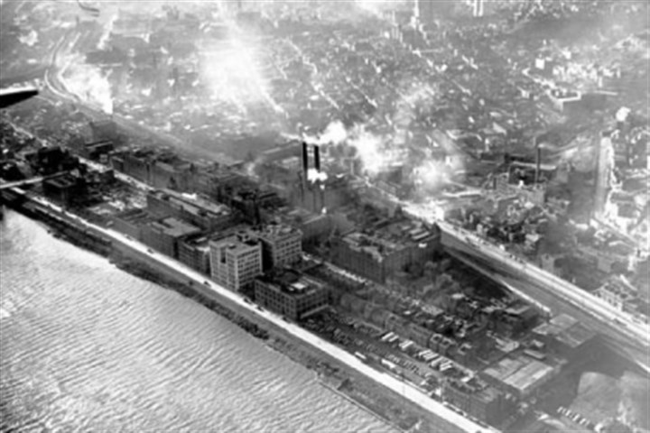 aerial1 1948: An aerial view of H.J. Heinz Co.'s footprint on the North Side.