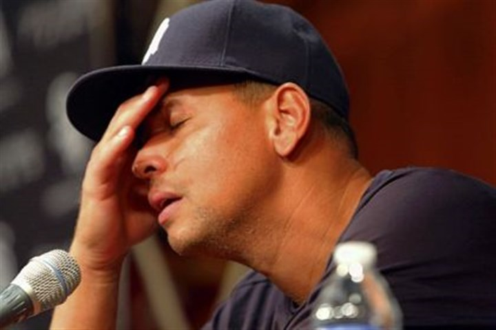 arodddddd The New York Yankees' Alex Rodriguez at a news conference Monday.