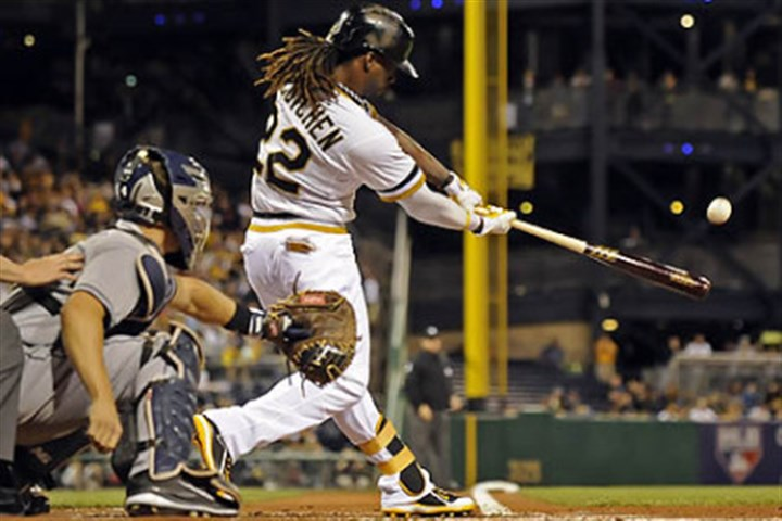 Andrew McCutchen Andrew McCutchen and the Pirates begin a three-game series today against the Reds in Cincinnati that will determine the host of the wild-card game.