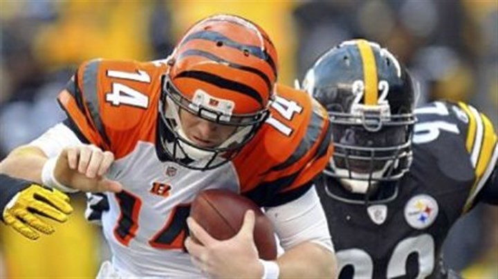 Andy Dalton Linebacker James Harrison will again by chasing Cincinnati quarterback Andy Dalton today at Heinz Field. Dalton has yet to beat the Steelers in three starts.
