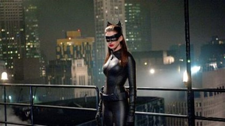 "anne hathaway Anne Hathaway as Selina Kyle in ""The Dark Knight Rises."""