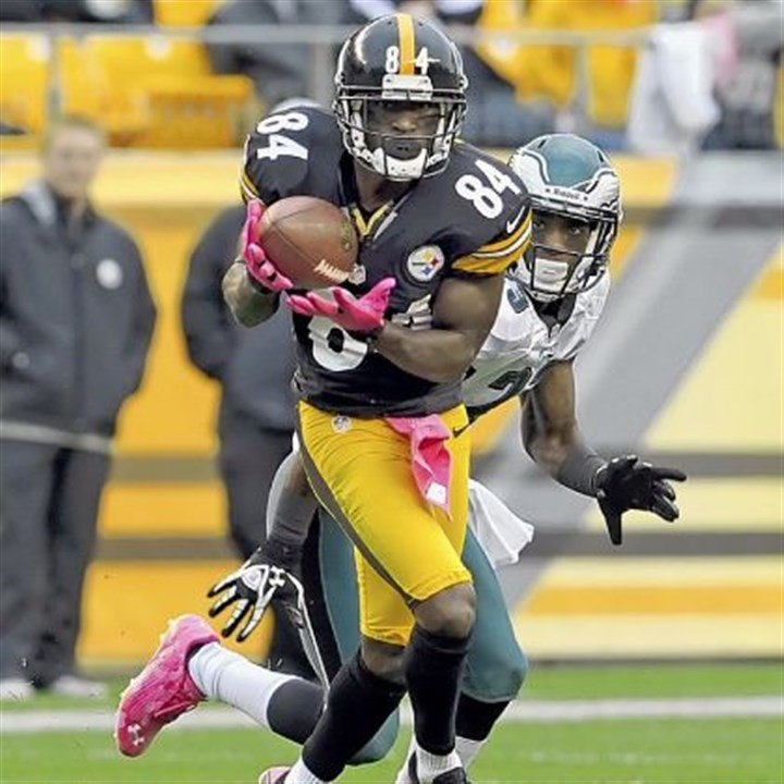 Antonio Brown Antonio Brown caught 66 passes and scored five touchdowns in 2012.