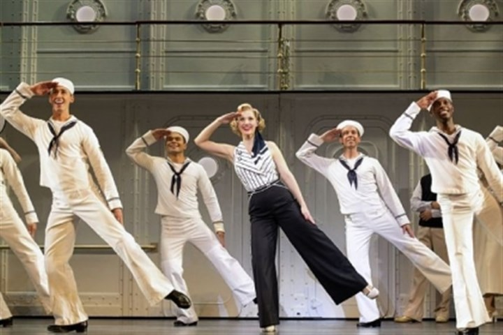 "'Anything Goes' Ryan Steer, Bobby Pestka, Rachel York, Jeremy Benton and Kristopher Thompson-Bolden in ""Anything Goes."""