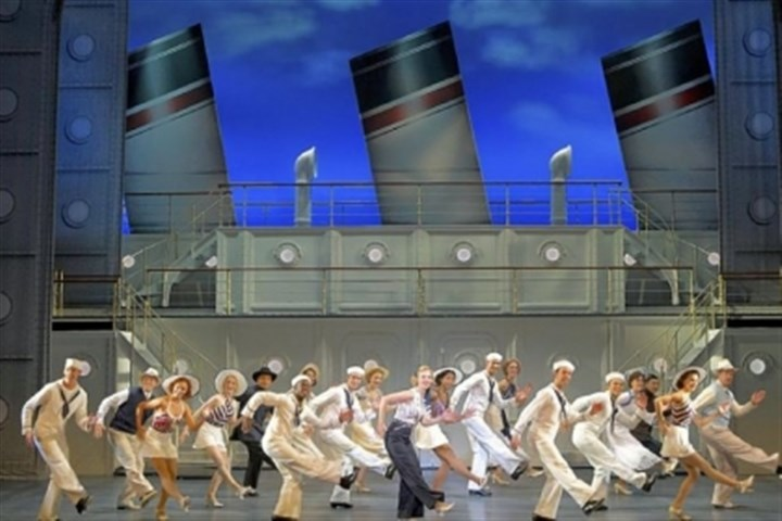 "'Anything Goes' Rachel York, center, leads a rousing ship-shape tour of ""Anything Goes,"" at Heinz Hall through Sunday."