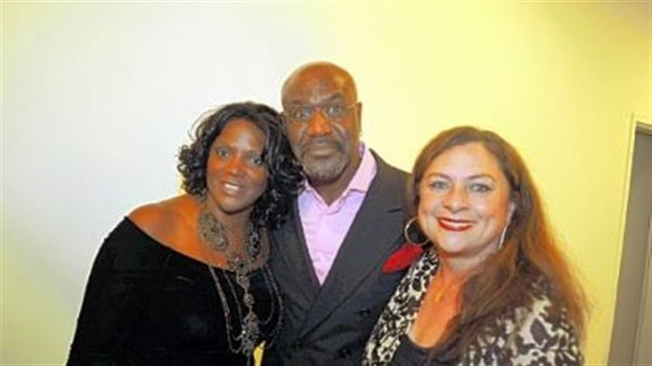 August Wilson Center opening From left, Anna Maria Horsford, Delroy Lindo and Constanza Romero Wilson.