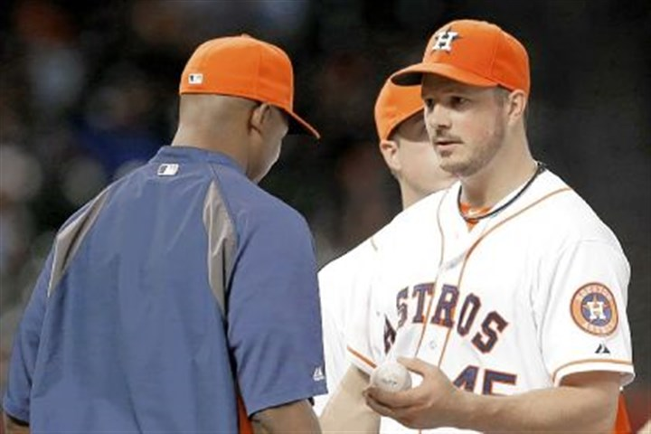 bedard Houston Astros starter Erik Bedard, formerly of the Pirates, asked to be taken out of a game Saturday despite a no-hit bid.
