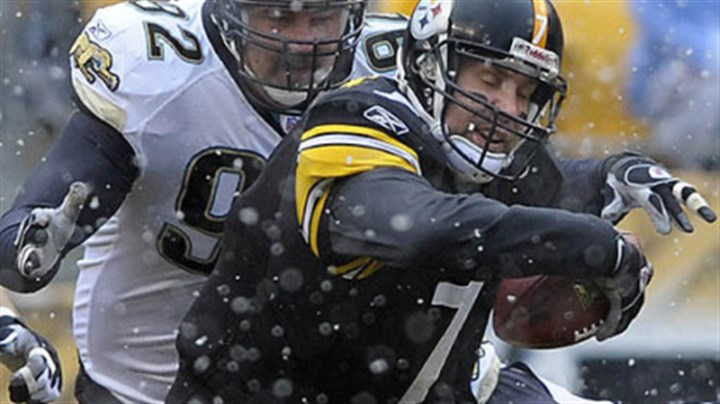 Ben Roethlisberger Ben Roethlisberger tries to scramble away from pressure in the first quarter. (vs. Jaguars 12/16/2007)