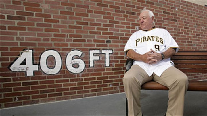 Bill Mazeroski Pirates Hall of Famer Bill Mazeroski sits in front of a replica of the left field wall at Forbes Field, at PNC Park before last night's game against the Cubs. Yesterday marked the 100th anniversary of the first game to be played in Forbes Field.