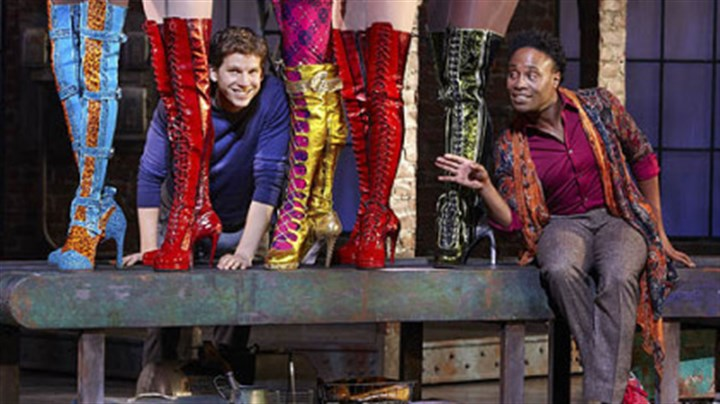 "Billy Porter in Kinky Boots Pittsburgh native Billy Porter, left, and co-star Stark Sands the musical adaptation of ""Kinky Boots,"" now in a pre-Broadway run in Chicago."